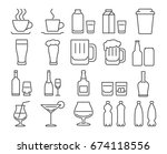 modern line style icons. set  9 ... | Shutterstock . vector #674118556