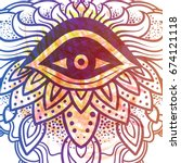 Third Eye With Dots Mandala...