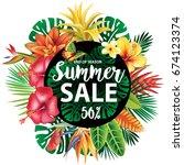 summer sale design | Shutterstock .eps vector #674123374