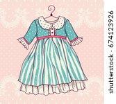 illustration of a festive dress.... | Shutterstock .eps vector #674123926