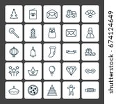 year icons set. collection of... | Shutterstock .eps vector #674124649