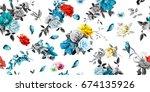 wide seamless background... | Shutterstock .eps vector #674135926