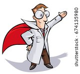 super doctor or scientist... | Shutterstock .eps vector #674135980