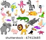 extra set  animals  rhinoceros  ... | Shutterstock .eps vector #67413685