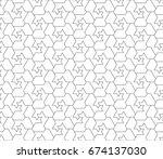 crisscross angled seamless... | Shutterstock .eps vector #674137030