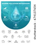 ecology infographic elements... | Shutterstock .eps vector #674137654