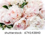 Bouquet Of Pink Peonies The...