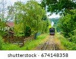 mocanita  the touristic train...   Shutterstock . vector #674148358