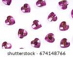 rhinestone background. heart... | Shutterstock . vector #674148766