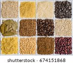 grocery set of food products ...   Shutterstock . vector #674151868