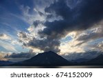 view of mountains and clouds... | Shutterstock . vector #674152009