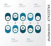 car outline icons set.... | Shutterstock .eps vector #674153764