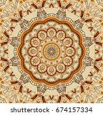 antique old golden clock... | Shutterstock . vector #674157334