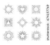 sunburst ink hand drawn vector... | Shutterstock .eps vector #674157769