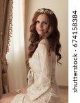 bridal morning before wedding...   Shutterstock . vector #674158384