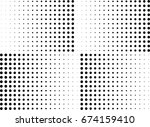 abstract halftone dotted... | Shutterstock .eps vector #674159410