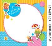 vector of summer template...   Shutterstock .eps vector #674159614