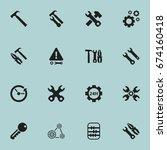 set of 16 editable service... | Shutterstock .eps vector #674160418
