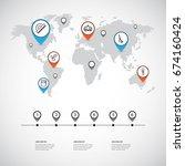 set of 6 editable teach icons.... | Shutterstock .eps vector #674160424