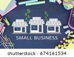 small business concept   Shutterstock . vector #674161534