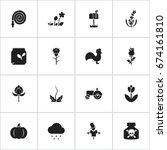 set of 16 editable gardening...