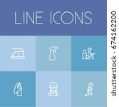 set of 6 editable hygiene icons....