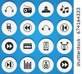 set of 16 editable mp3 icons....
