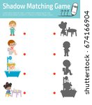 shadow matching game for kids ...   Shutterstock .eps vector #674166904