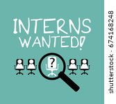 interns internship concept | Shutterstock .eps vector #674168248