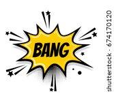 lettering comic bang boom star. ... | Shutterstock .eps vector #674170120