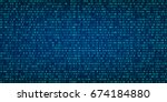 abstract technology binary code ... | Shutterstock .eps vector #674184880