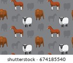 livestock farm animals seamless