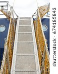 boarding a ship  looking up a... | Shutterstock . vector #674185843