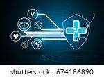 medical health care background... | Shutterstock .eps vector #674186890
