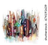 Illustration Of European City...