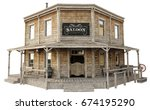 Western Town Saloon On An...