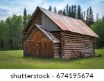 Old Wooden Log Church By Forest