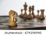 chess on board   white... | Shutterstock . vector #674196940