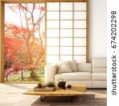 interior design modern living... | Shutterstock . vector #674202298