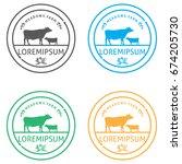 organic fresh product. vector... | Shutterstock .eps vector #674205730