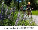 mountain biking missoula montana | Shutterstock . vector #674207038