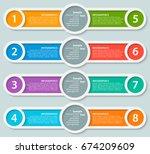 vector abstract 3d paper... | Shutterstock .eps vector #674209609