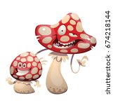 vector cartoon image of a funny ... | Shutterstock .eps vector #674218144