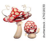 vector cartoon image of a funny ... | Shutterstock .eps vector #674218150