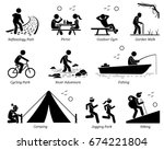 outdoor recreation recreational ... | Shutterstock .eps vector #674221804