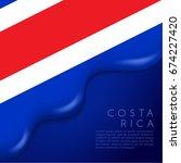 Costa Rica Flag On Creamy...