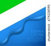 Sierra Leone Flag On Creamy...