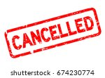 grunge red cancelled square... | Shutterstock .eps vector #674230774