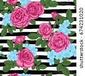 beautiful seamless pattern... | Shutterstock .eps vector #674231020