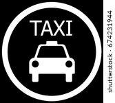 taxi sign black. vector. | Shutterstock .eps vector #674231944